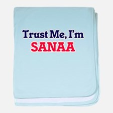 Trust Me, I'm Sanaa baby blanket