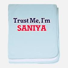 Trust Me, I'm Saniya baby blanket