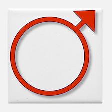 Cute Male symbol Tile Coaster