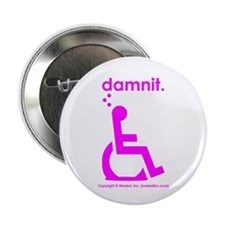 "damnit.wheelchair 2.25"" Button"