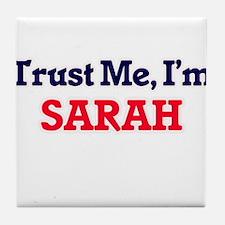 Trust Me, I'm Sarah Tile Coaster