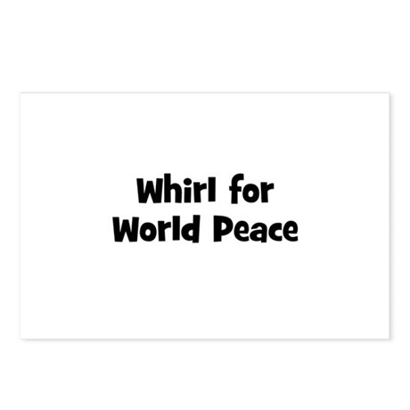 Whirl for World Peace Postcards (Package of 8)