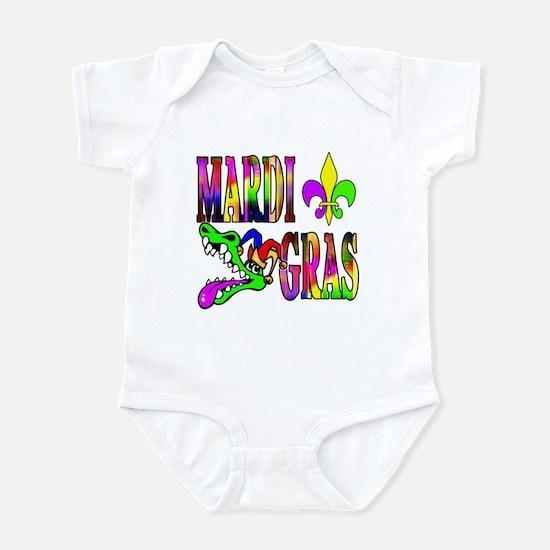 Mardi Gras with Gator Infant Bodysuit