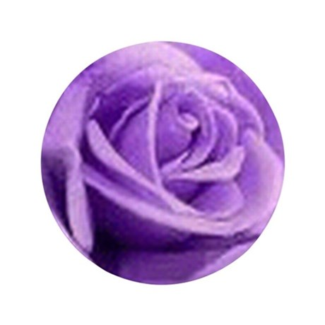 "Rose Purple 3.5"" Button (100 pack)"