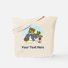Bear At Work (Custom) Tote Bag