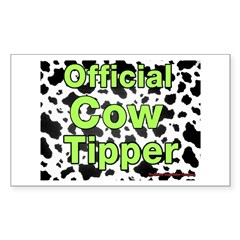 Official Cow Tipper Rectangle Decal
