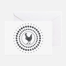 Chicken Chrome Studs Greeting Card