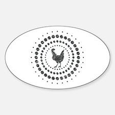 Chicken Chrome Studs Sticker (Oval)