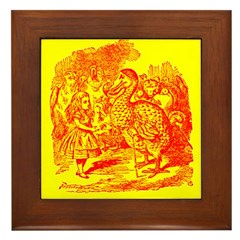 Alice & Dodo Framed Tile