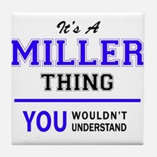 It's MILLER thing, you wouldn't under Tile Coaster