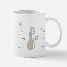 Cat and Fish Mugs