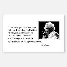 Twain smoking example Rectangle Decal