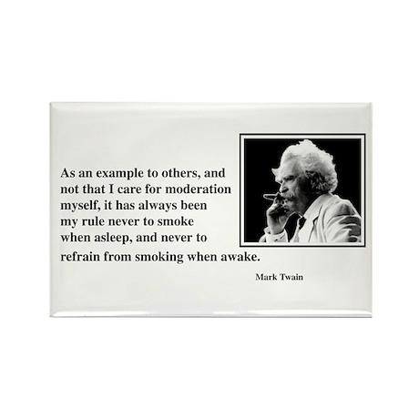 Twain smoking example Rectangle Magnet