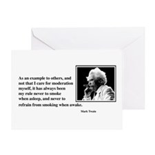 Twain smoking example Greeting Card