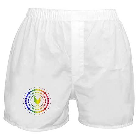 Chicken Rainbow Studs Boxer Shorts