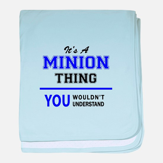 It's MINION thing, you wouldn't under baby blanket