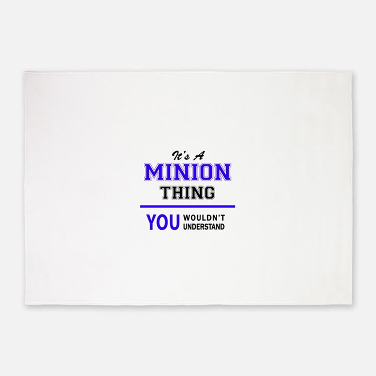 It's MINION thing, you wouldn't und 5'x7'Area Rug