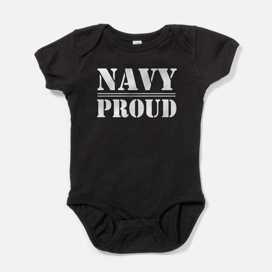 Navy Proud Baby Bodysuit