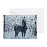 Horses and christmas Greeting Cards