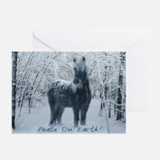 Winter horse. Christmas horse Greeting Cards (Pk