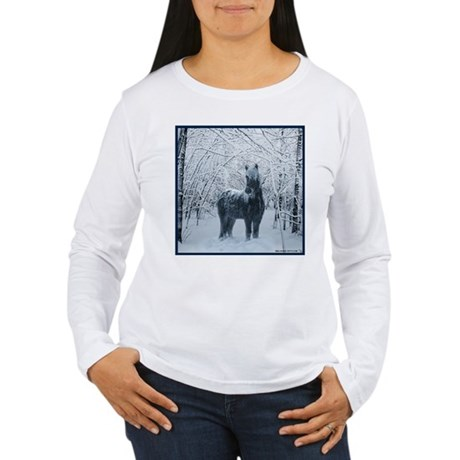 Winter horse. Christmas horse Women's Long Sleeve
