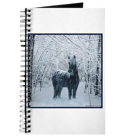 Winter horse. Christmas horse Journal