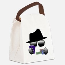 Cute Poker player Canvas Lunch Bag