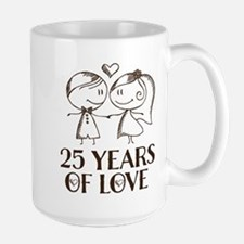 25th Anniversary chalk couple Mugs