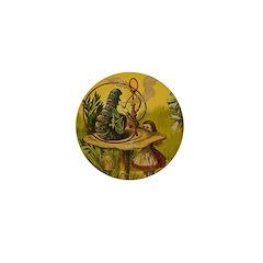 The Hookah-Smoking Caterpillar Mini Button (100 pa