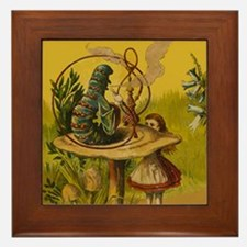 The Hookah-Smoking Caterpillar Framed Tile