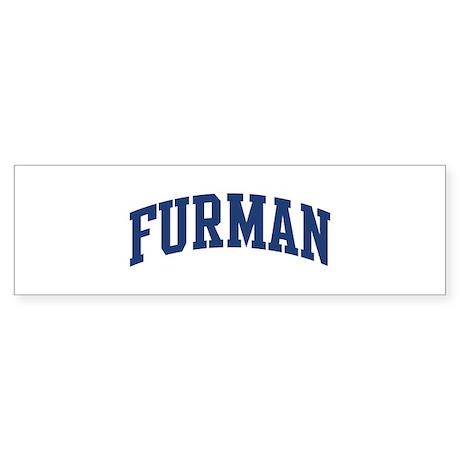 FURMAN design (blue) Bumper Sticker