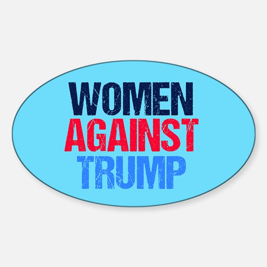 Women Against Trump Sticker (Oval)