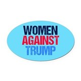 Anti trump Oval Car Magnets