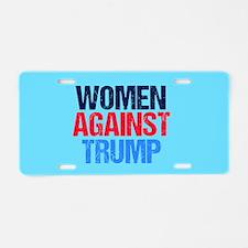Women Against Trump Aluminum License Plate