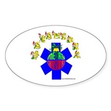 Paramedic Holiday Gifts Oval Decal