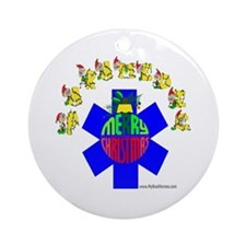 Paramedic Holiday Gifts Ornament (Round)