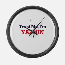 Trust Me, I'm Yazmin Large Wall Clock