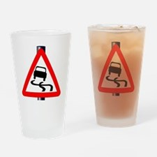 Unique Skid mark Drinking Glass