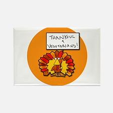 Thankful 4 Vegetarians Rectangle Magnet
