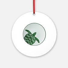 GREEN Round Ornament