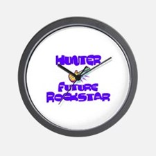 Hunter - Future Rock Star Wall Clock