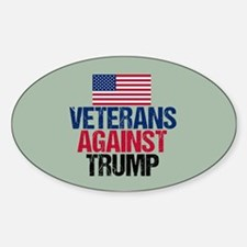 Veterans Against Trump Sticker (Oval)