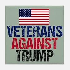 Veterans Against Trump Tile Coaster