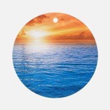 Ocean Sunset Round Ornament