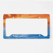 Ocean Sunset License Plate Holder
