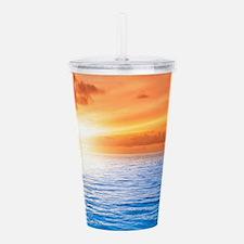 Ocean Sunset Acrylic Double-wall Tumbler