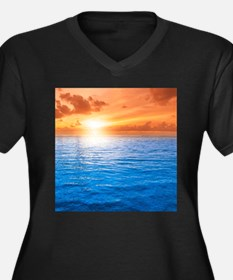 Ocean Sunset Plus Size T-Shirt