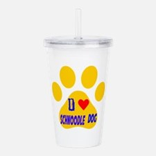 I Love Schnoodle Dog Acrylic Double-wall Tumbler