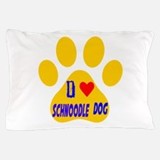 I Love Schnoodle Dog Pillow Case