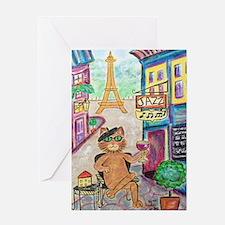 Jazz Cat Greeting Cards